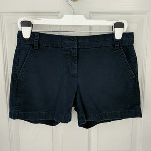 "J. Crew 100% Cotton 5"" Chino Shorts - Navy"